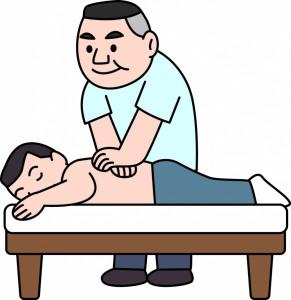 腰痛改善のために施術
