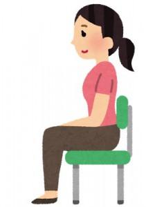 首こりの原因の一つ 座り姿勢にも注意が必要