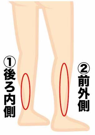 シンスプリントの痛みが起きやすい部位