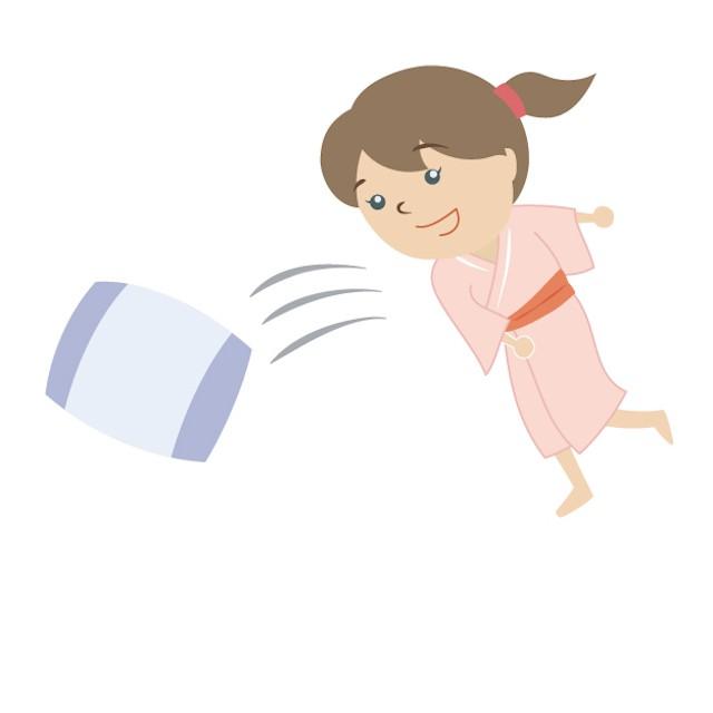 腰が痛い時は枕を外す