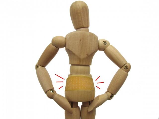 腰痛 コルセットで固定